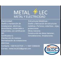 electricidad y estructuras metalicas