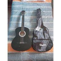 """Guitarra Clasica Acustica 39"""" Hendrix Negra"""